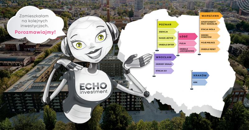 Aurelia, chatbot Echo Investment, wprowadza się nakolejne inwestycje