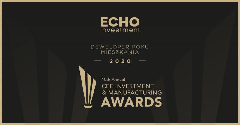 Echo Investment ztytułem najlepszego dewelopera mieszkaniowego ibiurowego