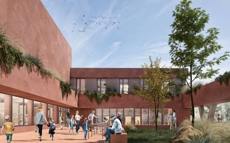 Echo Investment przedstawia koncept szkoły przy ul. Konstruktorskiej wWarszawie