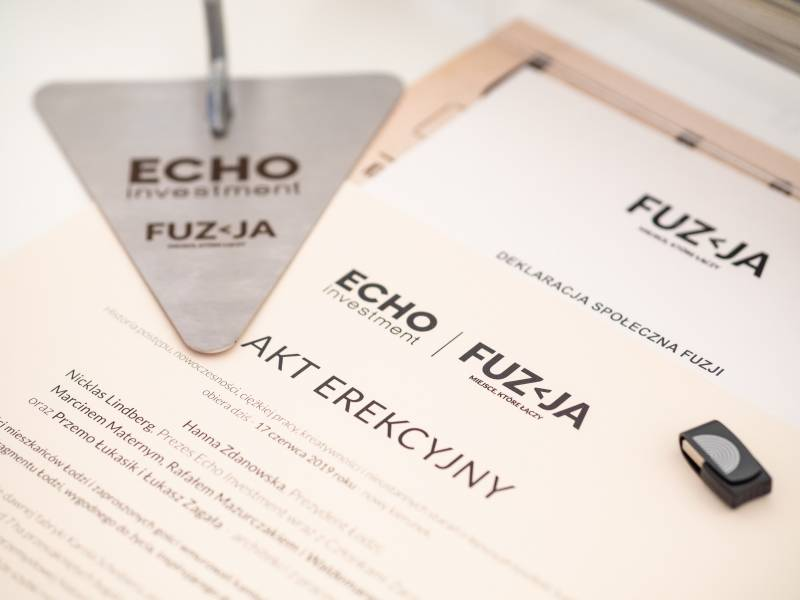 Echo Investment lays cornerstone at Fuzja  – a new destination project for Łódź
