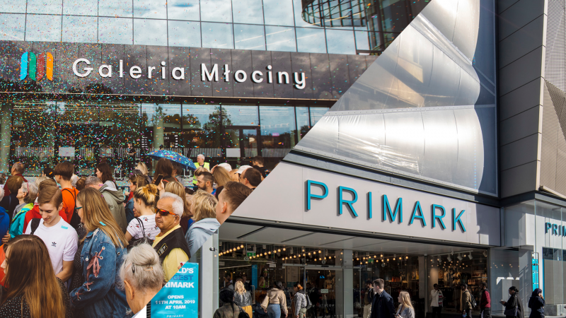 Primark to enter Poland with first store in Galeria Mlociny in Warsaw