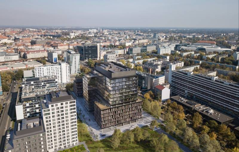 Echo Investment invests inWrocław. MidPoint71 office building tobe centrally located
